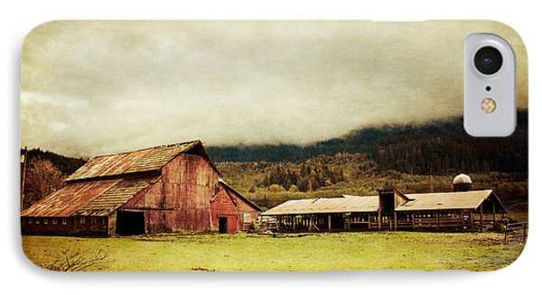 IPhone Case featuring the photograph Red Barn by Takeshi Okada