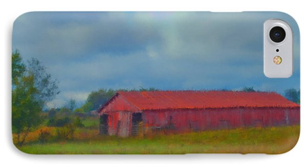 Red Barn Three IPhone Case by Ken Frischkorn
