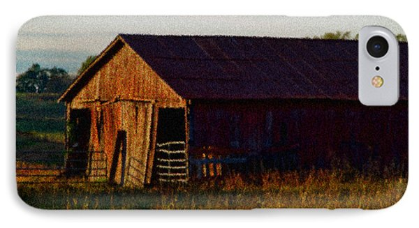 Red Barn Twelve IPhone Case by Ken Frischkorn