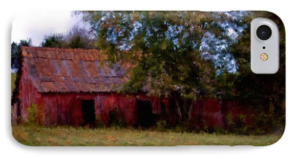Red Barn Two IPhone Case by Ken Frischkorn