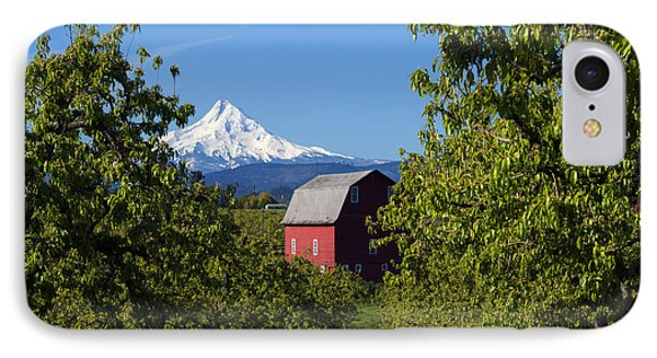 Red Barn View IPhone Case by Mike Dawson