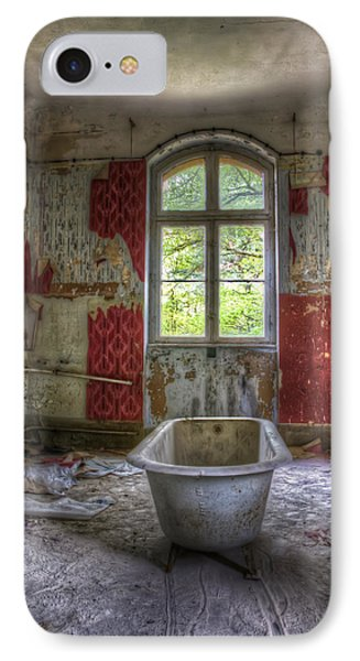 Red Bathroom IPhone Case by Nathan Wright