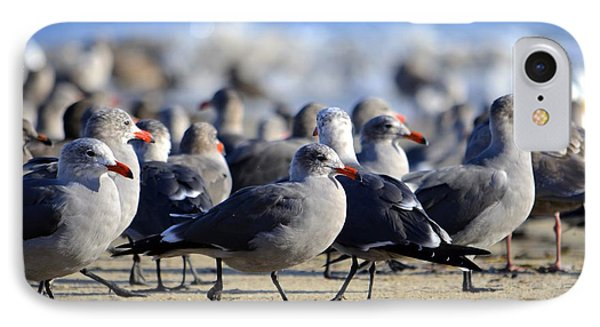 IPhone Case featuring the photograph Red Beak Seagull Convention by Alex King