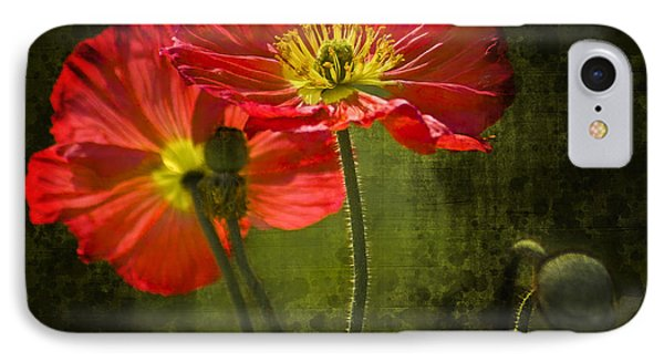 Red Beauties In The Field Phone Case by Heiko Koehrer-Wagner