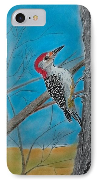 Red Bellied Woodpecker IPhone Case by Tony Clark