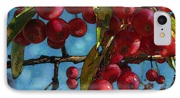 Red Berries Phone Case by Colleen Kammerer