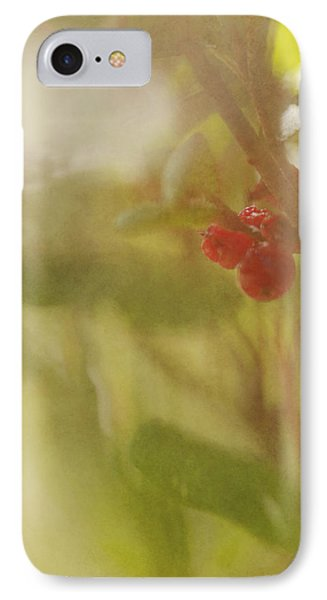 Red Berries Of The Bog Cranberry Phone Case by Roberta Murray