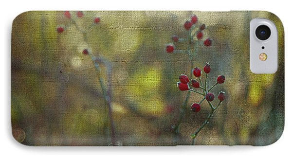 Red Berries On Green After Frost IPhone Case by Brooke T Ryan
