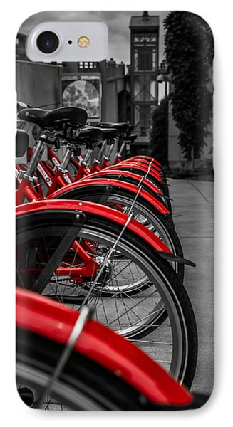 Red Bicycles IPhone Case