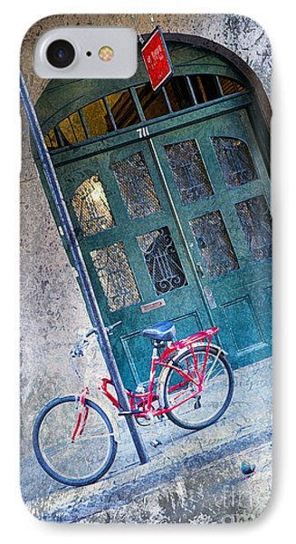 IPhone Case featuring the digital art Red Bike by Erika Weber