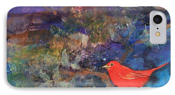 Red Bird IPhone Case by Robin Maria Pedrero