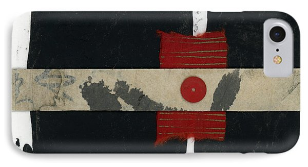Red Black And White Collage 1 IPhone Case by Carol Leigh