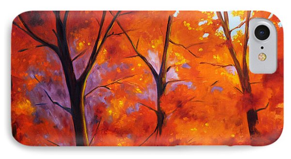 Red Blaze Phone Case by Nancy Merkle