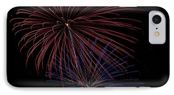 Red Blue Fireworks Phone Case by Jason Meyer