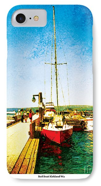 IPhone Case featuring the photograph Red Boat by Kenneth De Tore