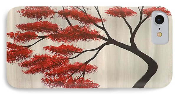 IPhone Case featuring the painting Red Bonsai by Darren Robinson