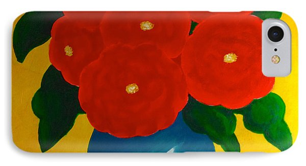 IPhone Case featuring the painting Red Bouquet by Anita Lewis