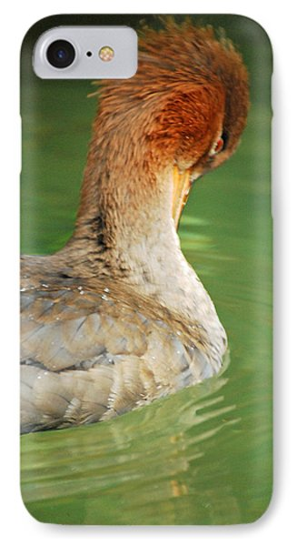 IPhone Case featuring the photograph Red Breasted Merganser by Maggy Marsh