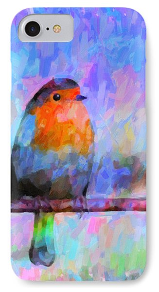 Red Breasted Robin Phone Case by Kenny Francis