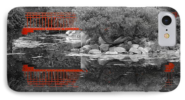 Red Bridge Black And White IPhone Case by Erick Schmidt