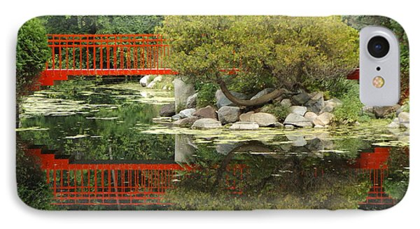 Red Bridge Close Reflection IPhone Case by Erick Schmidt