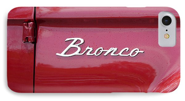 Red Bronco I IPhone Case by Richard Reeve