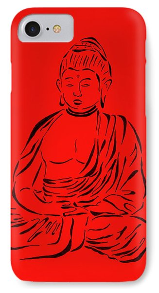 Red Buddha Phone Case by Pamela Allegretto