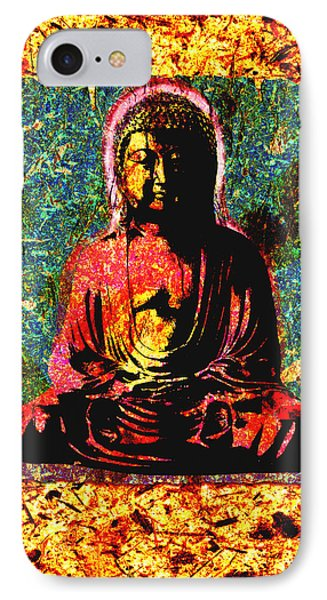 Red Buddha IPhone Case by Peter Cutler