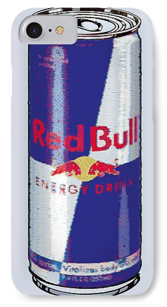Red Bull Ode To Andy Warhol Phone Case by Tony Rubino