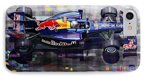 Car iPhone 7 Case - Red Bull Rb6 Vettel 2010 by Yuriy Shevchuk