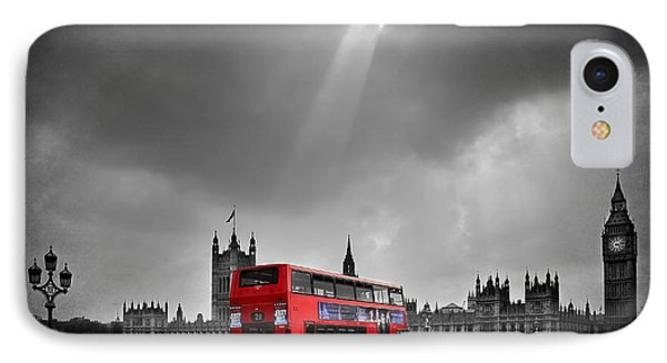 Red Bus IPhone Case by Svetlana Sewell