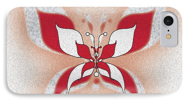 Red Butterfly IPhone Case by Christine Perry