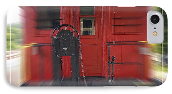Red Caboose IPhone Case by Edward Fielding