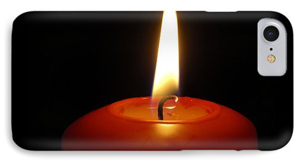 Red Candle Burning Phone Case by Matthias Hauser