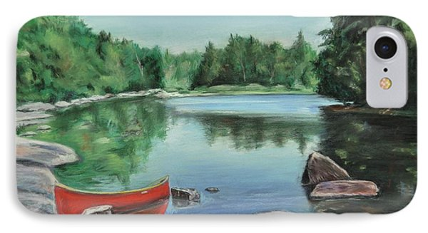 Red Canoe Phone Case by Heather Kertzer