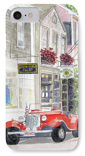 Red Car IPhone Case by Carol Flagg
