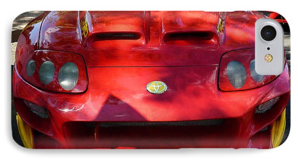 Red Car In Dappled Sunshine Phone Case by Susan Savad