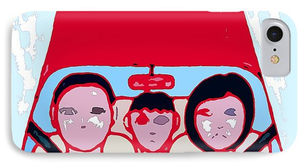 Red Car Phone Case by Patrick J Murphy
