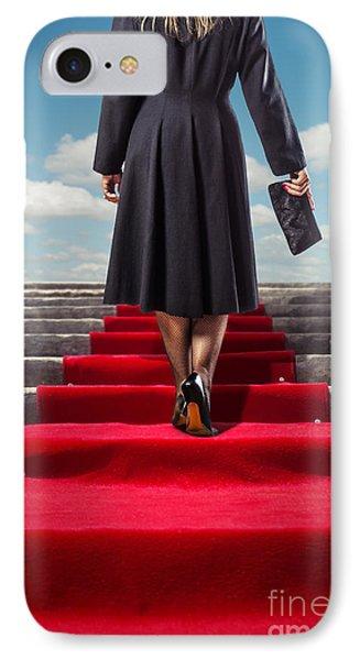 Red Carpet Stairway IPhone Case by Carlos Caetano