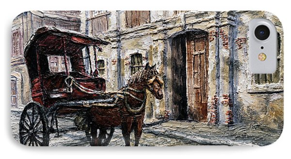 Red Carriage IPhone Case by Joey Agbayani