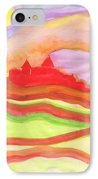 Red Castle IPhone Case by First Star Art
