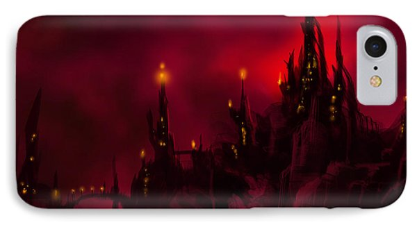 Red Castle IPhone Case by James Christopher Hill