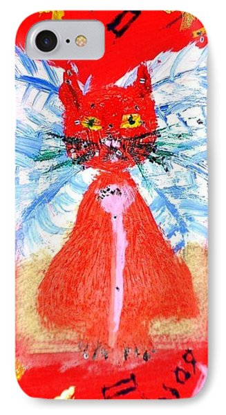IPhone Case featuring the painting Red Cat I by Leslie Byrne