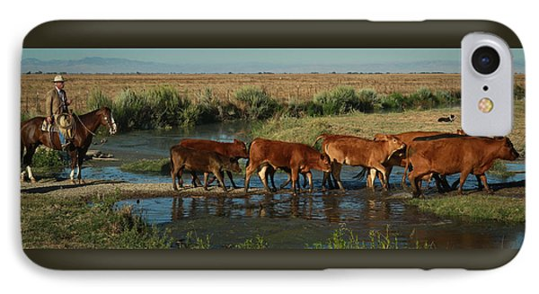 Red Cattle Phone Case by Diane Bohna