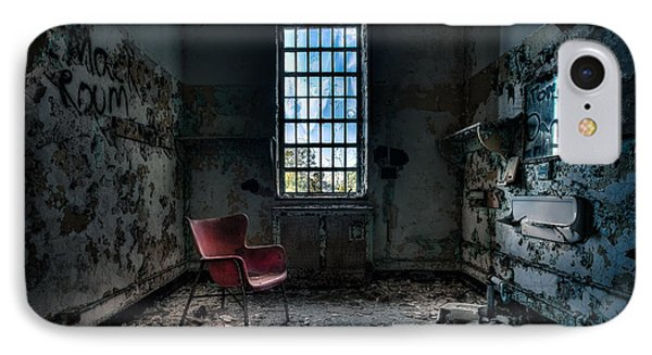 Red Chair - Art Deco Decay - Gary Heller Phone Case by Gary Heller