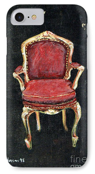 Red Chair Phone Case by Cathy Peterson