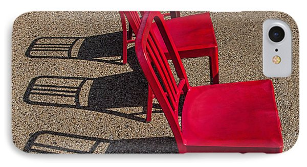 Red Chairs IPhone Case