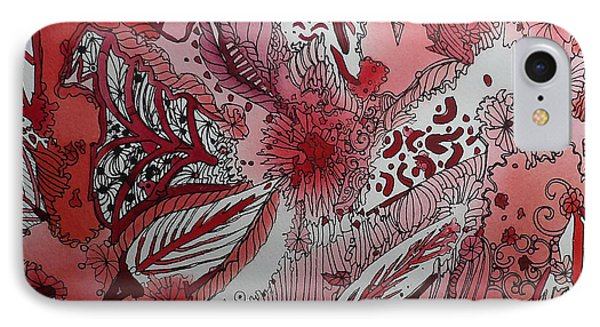 Red Chakra Phone Case by Terry Holliday