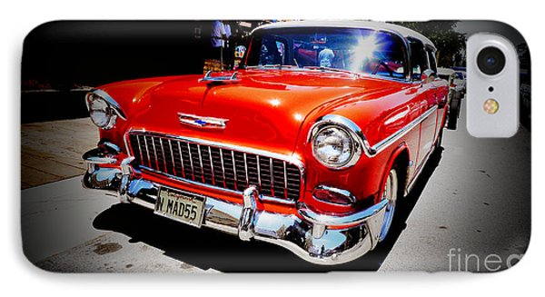 Red Chevrolet Bel Air Phone Case by Nina Prommer
