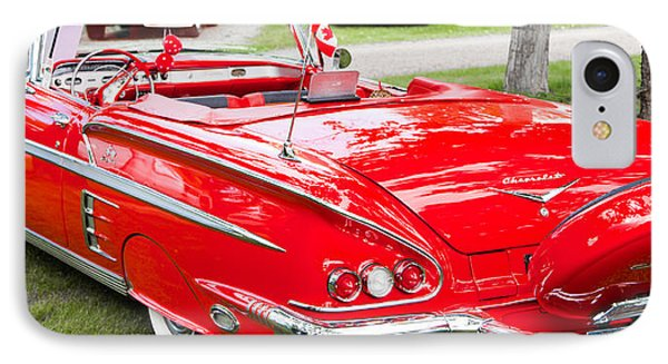 Red Chevrolet Classic IPhone Case by Mick Flynn